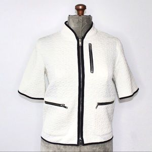 J Crew Short Sleeve Quilted Shrug Size XS